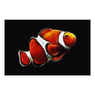 熱帯オレンジClownfishのピエロの魚 便箋