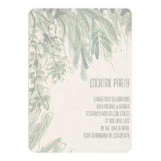熱帯カクテルパーティーの婚約の招待状 12.7 X 17.8 インビテーションカード