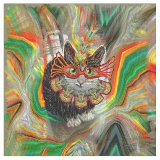 熱帯カーニバル猫 ファブリック