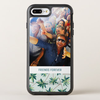 熱帯キツネの尾のやし|はあなたの写真及び文字を加えます オッターボックスシンメトリーiPhone 8 PLUS/7 PLUSケース