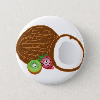 熱帯キーウィのココナッツ 5.7CM 丸型バッジ