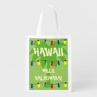 熱帯クリスマスの買い物袋Mele Kalikimaka エコバッグ