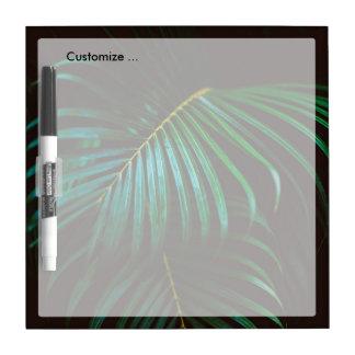 熱帯シュロの葉のリラックスさせるな緑に静まること ホワイトボード