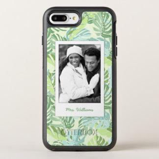 熱帯シュロの葉は|あなたの写真を加えましたり及び示します オッターボックスシンメトリーiPhone 8 PLUS/7 PLUSケース