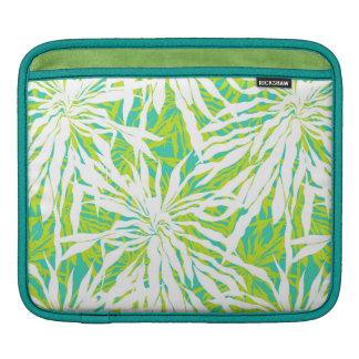 熱帯シュロの葉パターン iPadスリーブ