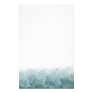 熱帯ティール(緑がかった色)の青の水彩画 便箋