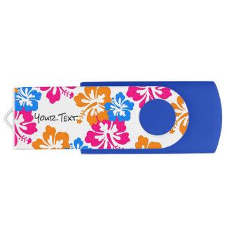 熱帯ハイビスカスによってはカスタマイズ可能が開花します USBフラッシュドライブ