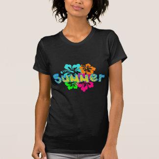 熱帯ハイビスカスの夏のTシャツ Tシャツ