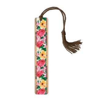 熱帯ハイビスカスの花柄パターン ブックマーク