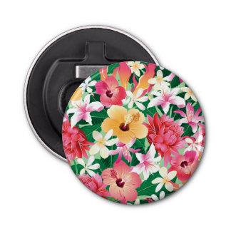 熱帯ハイビスカスの花柄パターン 栓抜き