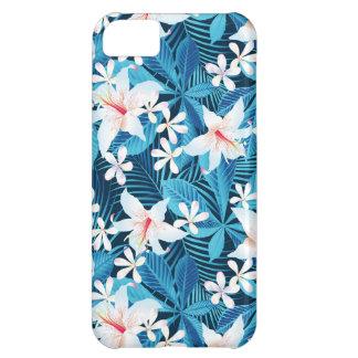 熱帯ハイビスカスの花柄パターン iPhone5Cケース