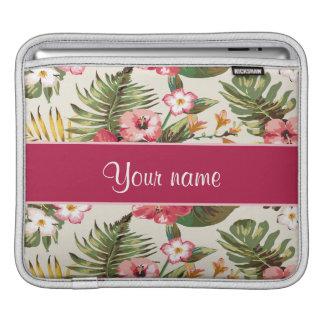 熱帯ハイビスカスの花模様 iPadスリーブ