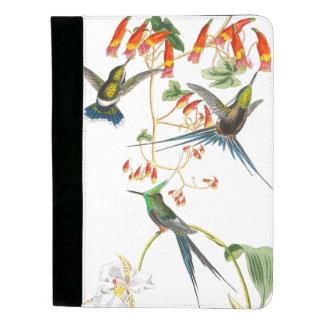 熱帯ハチドリの鳥の花Padfolio パッドフォリオ