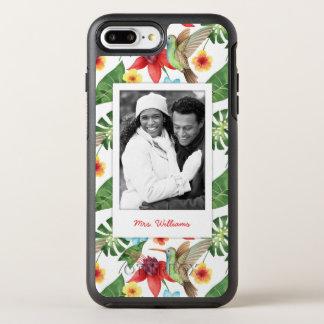 熱帯ハチドリは|あなたの写真を加えましたり及び示します オッターボックスシンメトリーiPhone 8 PLUS/7 PLUSケース