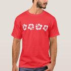 熱帯ハワイのハイビスカス Tシャツ
