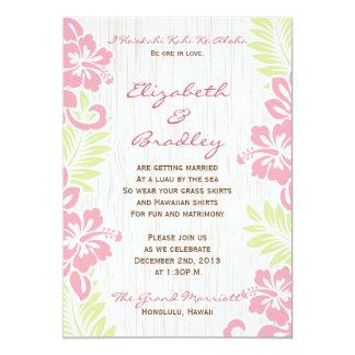 熱帯ハワイの結婚式招待状 12.7 X 17.8 インビテーションカード