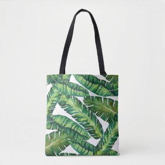 熱帯バナナの葉のトートバック トートバッグ