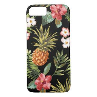 熱帯パイナップルハイビスカスによってはiphoneカバーが開花します iPhone 8/7ケース