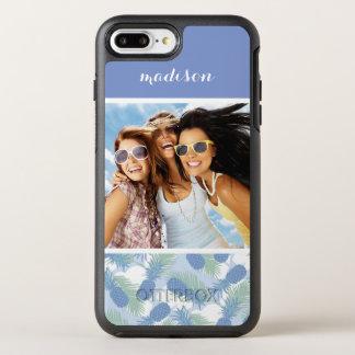熱帯パイナップルパターン|はあなたの写真を加えましたり及び示します オッターボックスシンメトリーiPhone 8 PLUS/7 PLUSケース