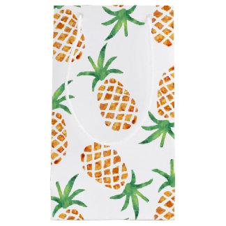 熱帯パイナップルパターン スモールペーパーバッグ