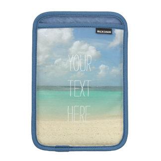 熱帯ビーチの休暇のカスタマイズ可能な引用文 iPad MINIスリーブ