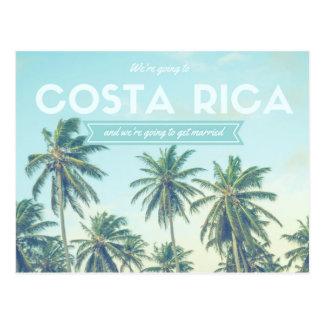 熱帯ビーチの保存を結婚するコスタリカ日付 ポストカード
