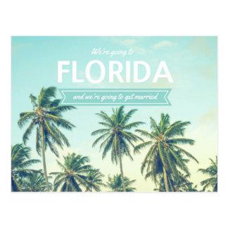 熱帯ビーチの保存を結婚するフロリダ日付 ポストカード
