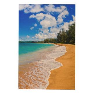熱帯ビーチの楽園、ハワイ ウッドウォールアート