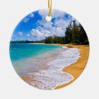 熱帯ビーチの楽園、ハワイ セラミックオーナメント