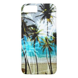熱帯ビーチの海のカスタムなiPhone 7の場合 iPhone 8/7ケース
