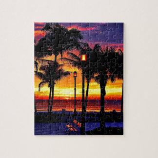 熱帯ビーチの願いカスタムな郵便はがきここにいました ジグソーパズル