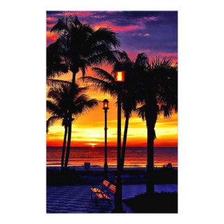 熱帯ビーチの願いカスタムな郵便はがきここにいました 便箋