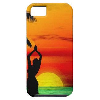 熱帯ビーチの願いカスタムな郵便はがきここにいました iPhone SE/5/5s ケース