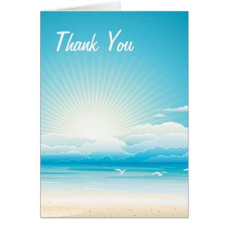 熱帯ビーチは結婚式の招待状感謝していしています カード