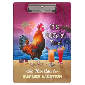熱帯ビーチまたは巡航の休暇|のおもしろいなオンドリ クリップボード