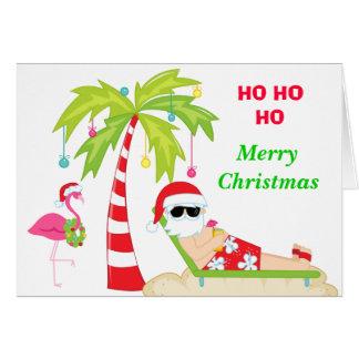 熱帯ビーチサンタ カード
