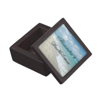 熱帯ビーチ場面名前入りな記念品 ギフトボックス