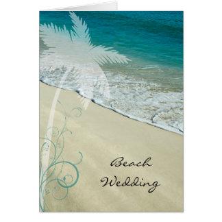 熱帯ビーチ結婚式のセーブ・ザ・デート案内 カード