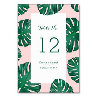 熱帯ビーチ結婚式のテーブル数 カード