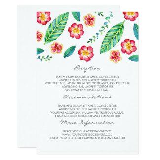 熱帯ビーチ結婚式情報ゲストカード カード