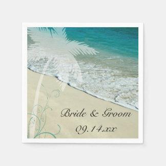 熱帯ビーチ結婚式 スタンダードカクテルナプキン