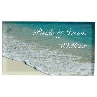 熱帯ビーチ結婚式 テーブルカードホルダー