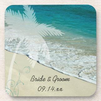 熱帯ビーチ結婚式 ドリンクコースター