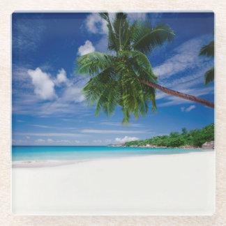 熱帯ビーチ|セイシェル ガラスコースター