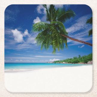 熱帯ビーチ|セイシェル スクエアペーパーコースター
