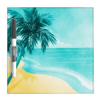 熱帯ビーチ ホワイトボード