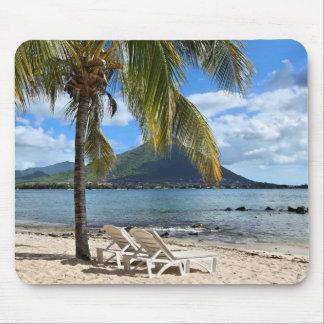 熱帯ビーチ マウスパッド