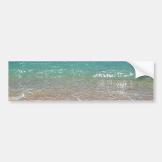 熱帯ビーチ- Waikiki、オアフ、ハワイ バンパーステッカー
