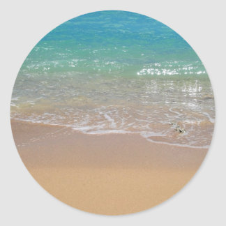 熱帯ビーチ- Waikiki、オアフ、ハワイ ラウンドシール