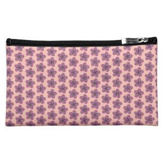 熱帯ピンクのハイビスカス コスメティックバッグ